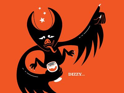 Dizzy... dont drink and drive prompt 24 illustration bat inktober dizzy