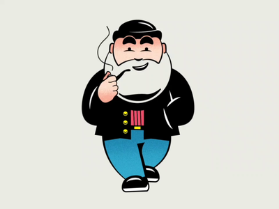 Off Duty Santa 🎅 animation design post-delivery casual vacation off duty break illustration doodle holidays santa front view walk cycle