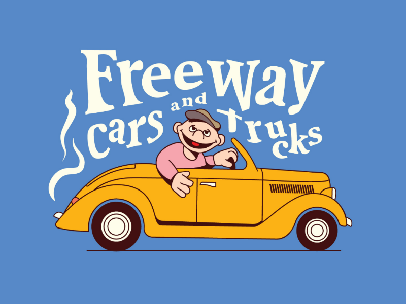 Freeway Cars & Trucks 🎶 driver driving car type nostalgia oldie old school doodle sesame style illustration lyrics