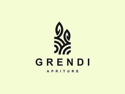 grendi logo icon app typography ux vector branding ui logo illustration design