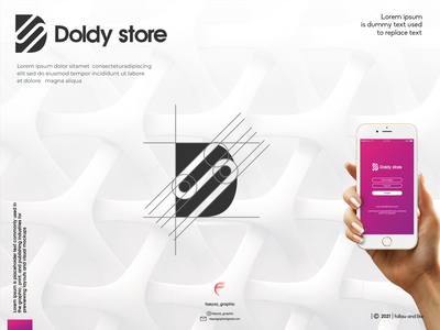 doldy store logo ux vector ui typography logo illustration icon design branding app