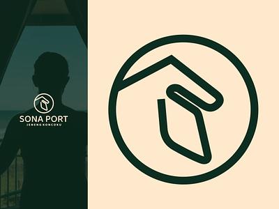 sona port logo ux vector ui typography logo illustration icon design branding app