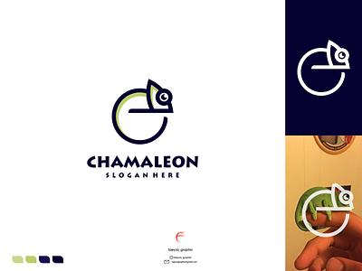chamaleon logo ux vector ui typography logo illustration icon design branding app
