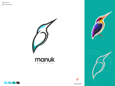 manuk logo ux vector ui typography logo illustration icon design branding app