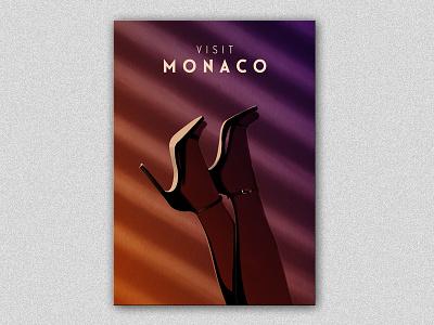 Visit Monaco illustration editorial photoshop legs digital print art poster travel monaco