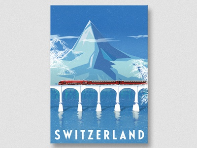Swiss editorial tourism print advertising digital poster travel swiss