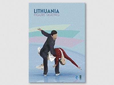 Figure Skating photoshop editorial illustration lithuania skating figure poster