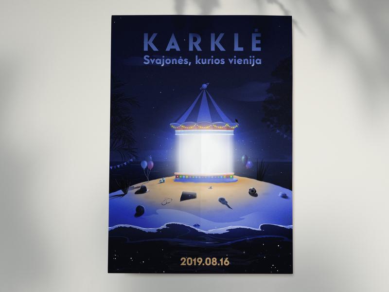 Karkle art advertising branding poster photoshop illustration editorial