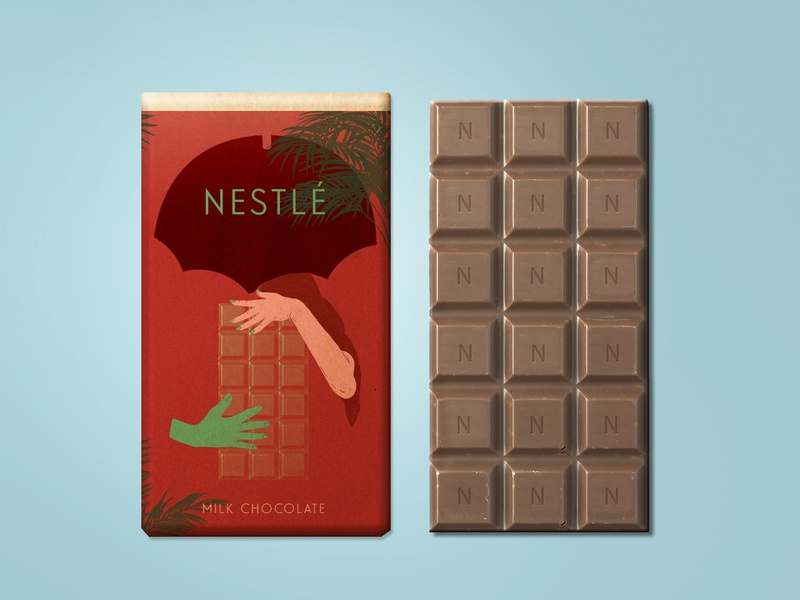 Milk chocolate package redesign advertising design photoshop drawing chocolate package packagedesign editorial illustration