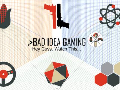 Bad Idea Gaming YouTube Channel Art youtube svg illustrator