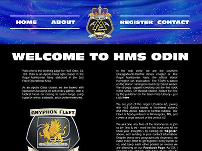 HMS Odin Website science fiction chapter page fandom fan club honor harrington