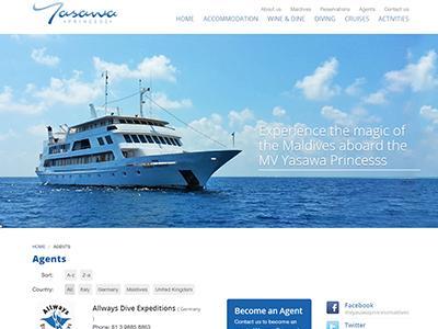 Yasawa Princess - Safari boat website