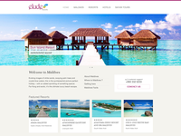 Elude Travels - web design