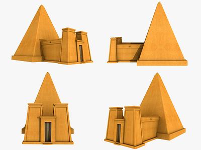 Nubian Pyramids 3d Model art 3dsmax 3d art 3d desert egypt pharaoh temple jebel king kushite naga sphinxes pyramid meroe forgotten sudanese pyramids nubian sudane