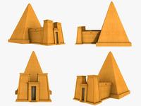 Nubian Pyramids 3d Model