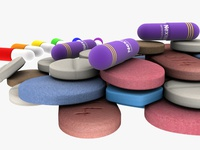 Medical Pills 3d Models