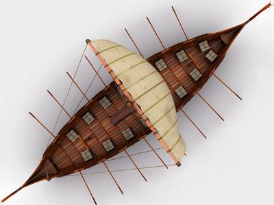 Viking Ship 3d Model art 3dsmax 3d art 3d historical historic battle sail sailboat sailing warrior medieval north warship longship boat longboat long ship viking