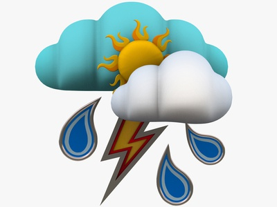 Weather Forecast 3d Models 3dsmax 3d art 3d day meteorolgy heat icon news drop lighting thunder cloud sky sunny sun rain symbols forecasting forecast weather