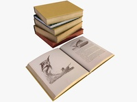 Old Books 3d Models