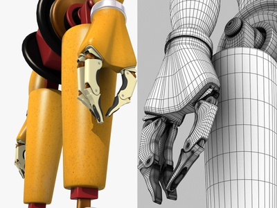 Robot Arm 3d characer sci-fi sci fi sf droid cyborg character futuristic vintage fantase concept design concept art 3dsmax 3d art 3d arm robot