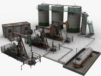 Oil Field 3d Models