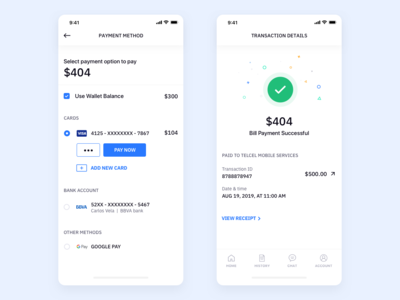 E-Wallet Checkout Design