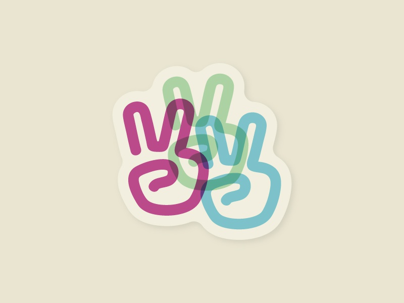 Peace Signs illustration stickers rebound