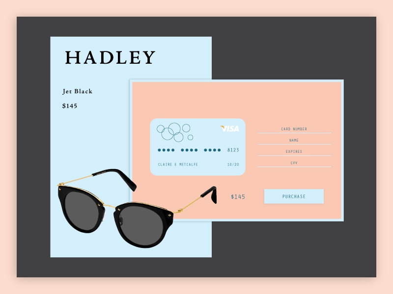 Daily UI 002 - Credit Card Checkout credit card checkout daily ui 002 dailyui