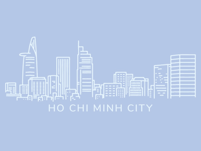 Ho Chi Minh City ho chi minh city illustration vector