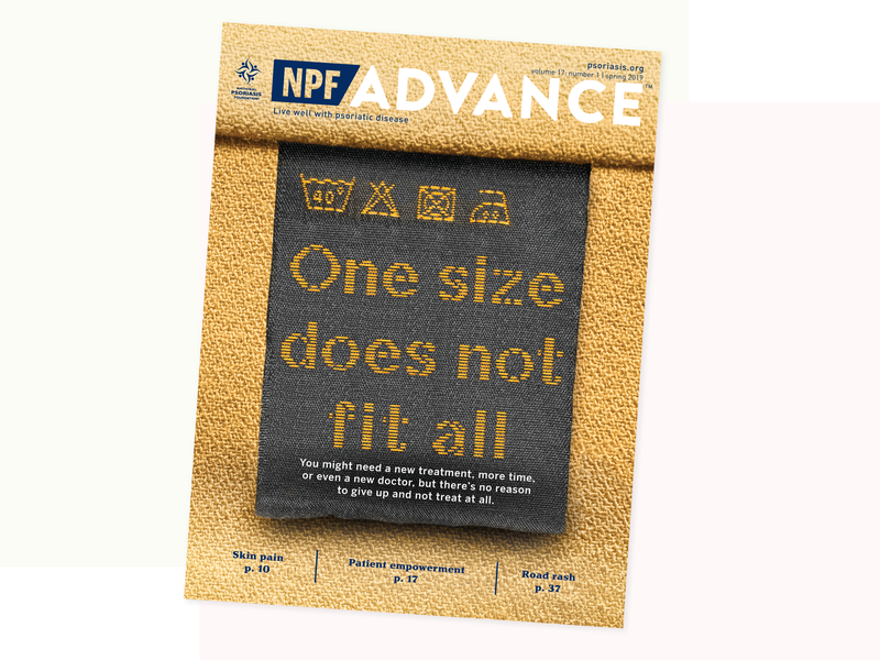 NPF Advance Spring 2019 Cover Design type layout magazine cover editorial design cover design