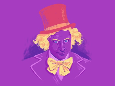 W for Willy Wonka sketch character design photoshop doodle illustration