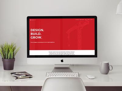 Home Page Desktop illustration crane mock up call to action landing page design web home screen