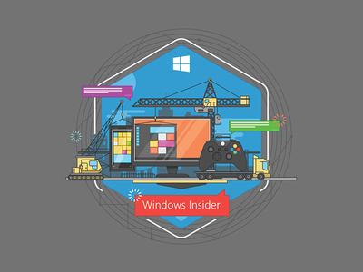 Windows Insider t-shirt Design concept 3 microsoft tech line art windows