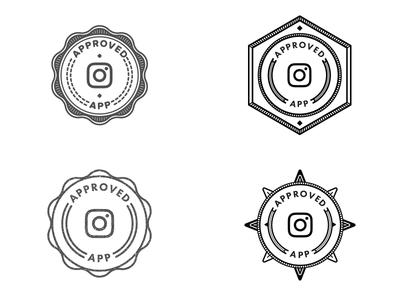 Instagram Appoved Badge circle illustration line art illustrator app line instagram badge