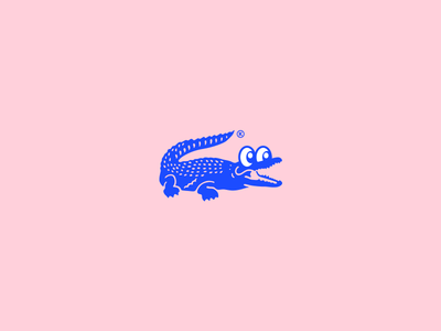 Lac lacoste apparel fresh cool streetwear fashion character happy cute color brand illustration