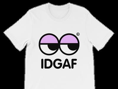 IDGAF® T-Shirt color fashion apparel kawaii clean kikillo etsy cute streetwear illustration