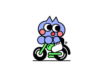 MOTO TRIP streetwear kids clean color kikillo kawaii cute character character design illustration