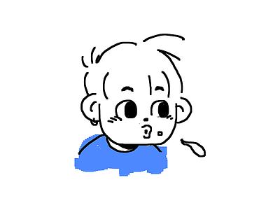I spit on you® T-Shirt minimal color cute kikillo tee t-shirt doodle simple sketch goods apparel spit illustration