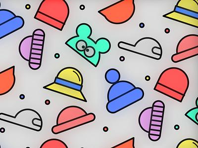 hAT magic pattern! kikillo kids color clean glowy cute illustration pattern