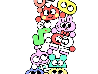 complete family! apparel clothing character clean kikillo fashion streetwear color cute illustration