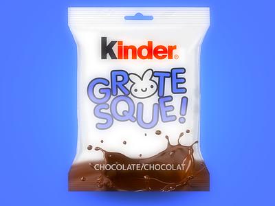 Kinder GROTESQUE! dribbble kikillo kinder cute chocolate packaging illustration