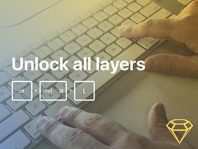 Sketch plugin: Unlock all layers free plugin sketch