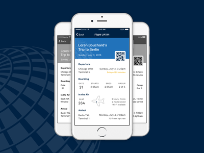 Boarding Pass 2.0 concept ticket airplane mobile