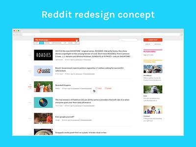 Reddit redesign concept concept redesign reddit