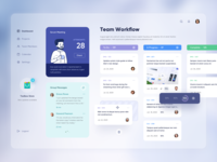 Kanban Dashboard website web information message business work teamwork team list task trello kanban dashboard search illustration clean details profile ui app