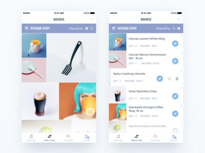 Trade app. - Browsing