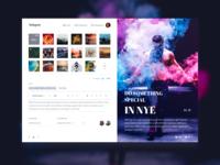 Instagram concept redesign