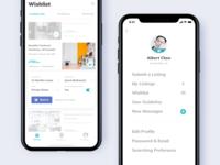 Condo Rental App. - Wishlist & Menu
