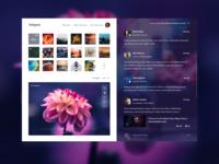 2 Invites + Instagram concept redesign