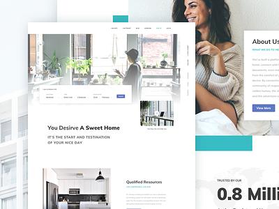 Condo Rental App. - Website Landing rental message alert price mobile clean filter search house condo web app